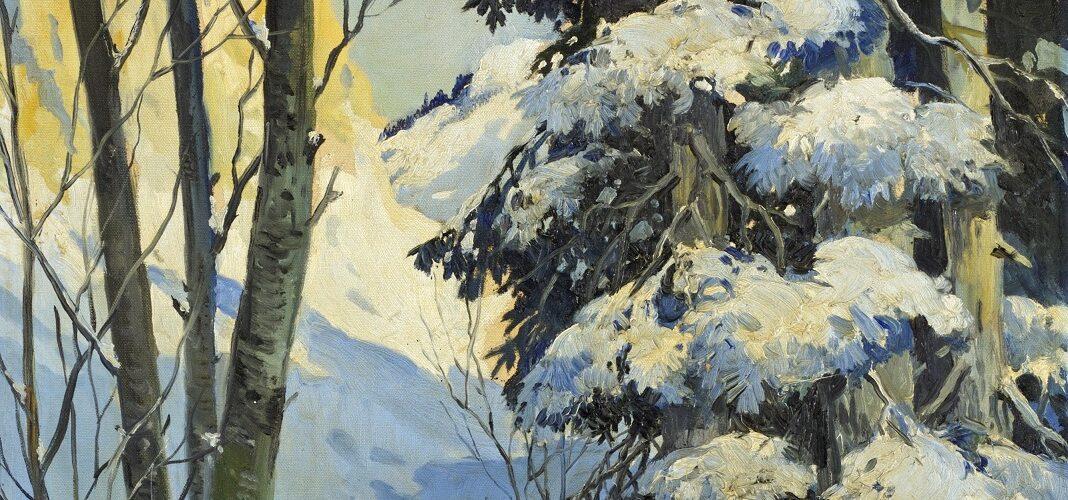 Snowscene + painint