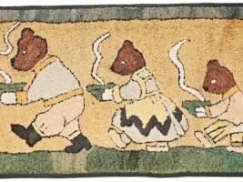 3 bears hooked rug