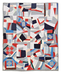 Crazy Patchwork Red Cross Quilt