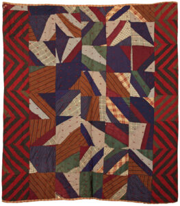Crazy Red Cross quilt