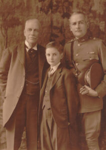 Three generations of the Pratts, showing Alexander in uniform